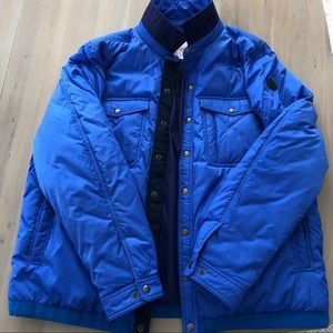 Blue Moncler light winter jacket